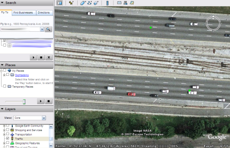 google earth. Google Earth Shows Real-Time