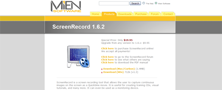 http://www.miensoftware.com/screenrecord.html