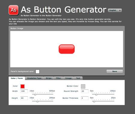 As Button Generator – Free Web button creator.