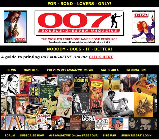 007.info – An unofficial international fan club that has a magazine, forums,