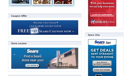 sears facebook fan page image