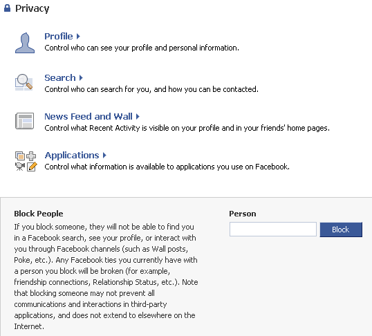 facebook privacy settings image