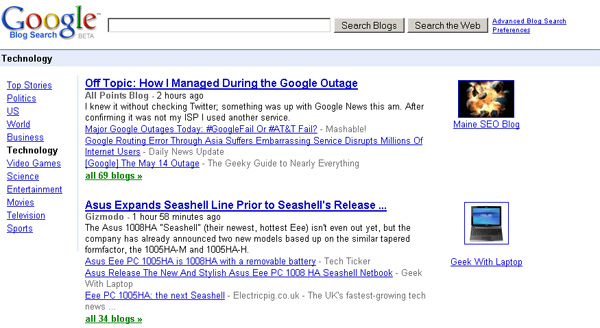 google blog search. Google Blog Search Gets Faster
