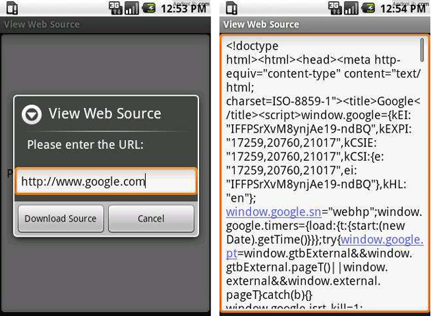 View Web Source Android App Image