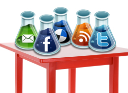 Social Media Beakers Image