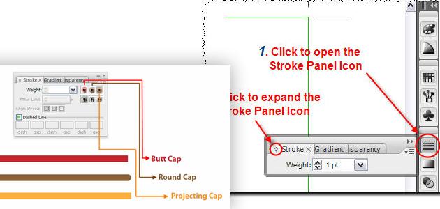 12 Beginner Tutorials for Getting Started with Adobe Illustrator 09_strokepanel