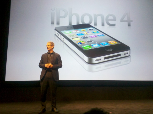 Tim Cook at the iPhone 4s Unveil