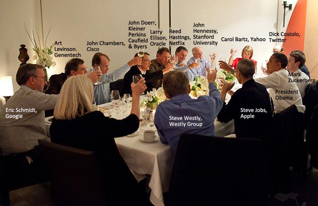 new arrival 8b9f6 77642 Ранее в этом году оба они присутствовали на обеде с Президентом Обамой и  другими светилами хайтека, как вы можете видеть на фотографии,  опубликованной Белым ...