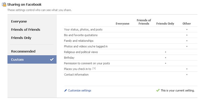how to turn your facebook account to private