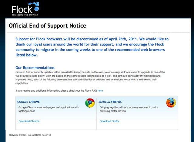 Adiós a Flock, el navegador web más social 33