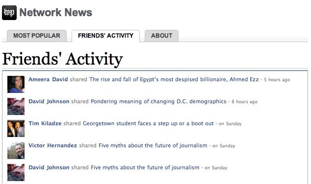 華盛頓郵報的Network News