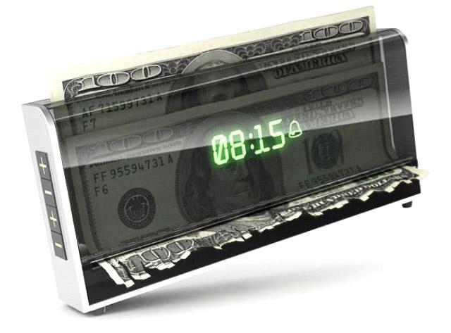 Money shredding alarm clock