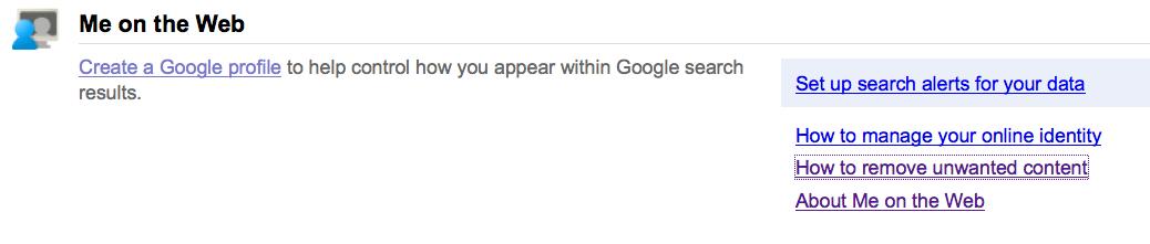 Google推出線上名譽管理工具
