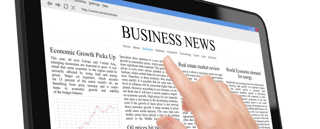 Business News Tablet Image