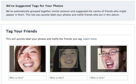 Reconhecimento de face no Facebook