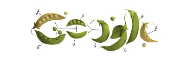 google doodle dedicato a  MENDEL