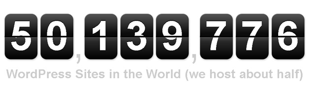 WordPress reaches 50 million websites
