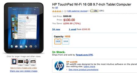 HP TouchPad16 GB, AmazonUS