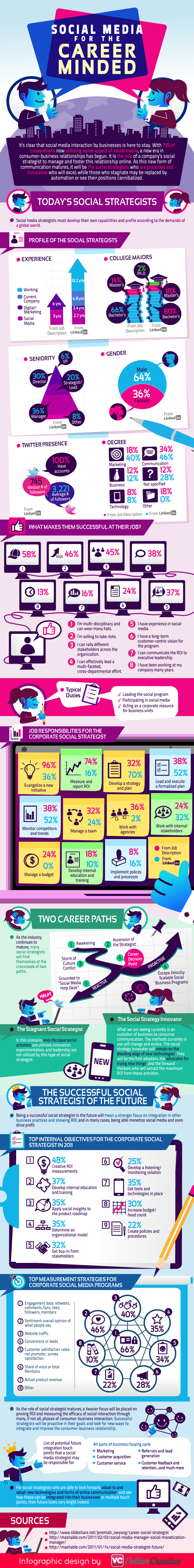 Social Media Strategist Statistics Infographic