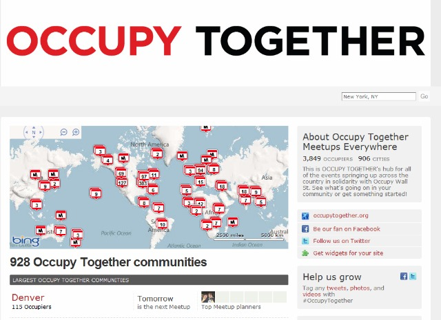 Occupy Wall Street Protests Sprout 928 Offshoots On Meetupcom