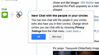 Google+ Chat in Circles