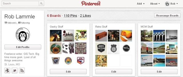 Pinterest boards image from Bobby Owsinski's Music 3.0 blog
