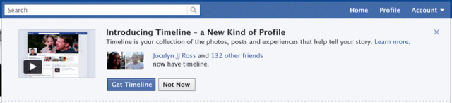Facebook Timeline Opt-in Button