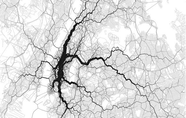 Eric Fischer Map of NYC Geotags