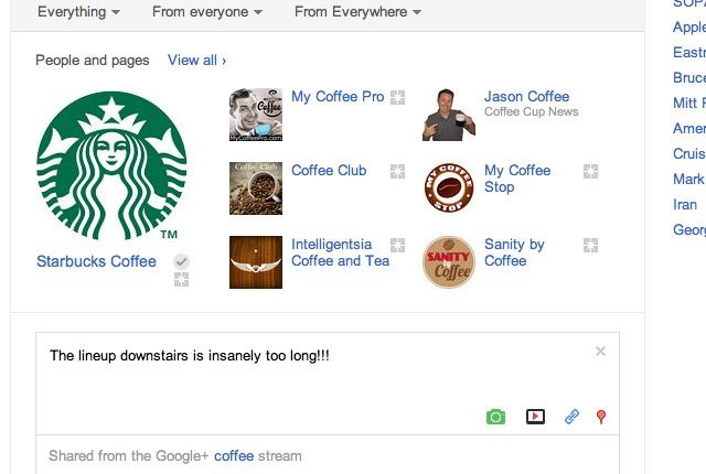 google plus search screenshot