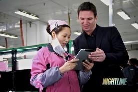 Bill Weir at Foxconn NIGHTLINE (image courtesy of ABC News Nightline)