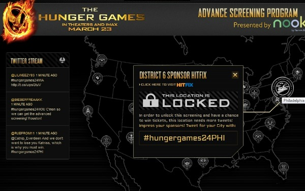 Lionsgate announced a campaign Wednesday for fans of The Hunger Games to ...
