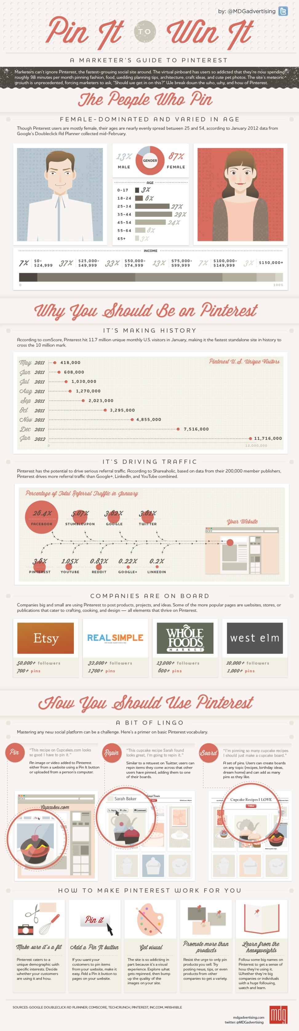 Dati e Statistiche su Pinterest - infographic