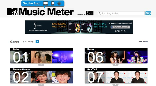 Music Meter Web Interface