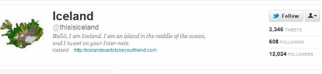 Iceland Tweet