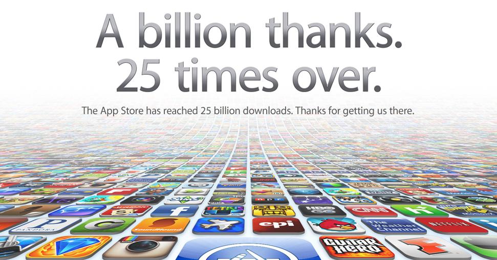 apple apps 25 billion