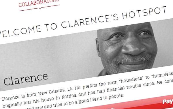 Homeless Hotspot page