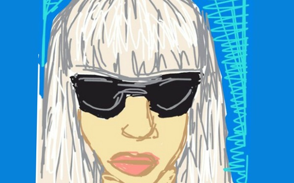 Lady Gaga Draw Something Portrait