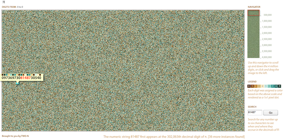 View 4 Million Digits of Pi in a Single Image