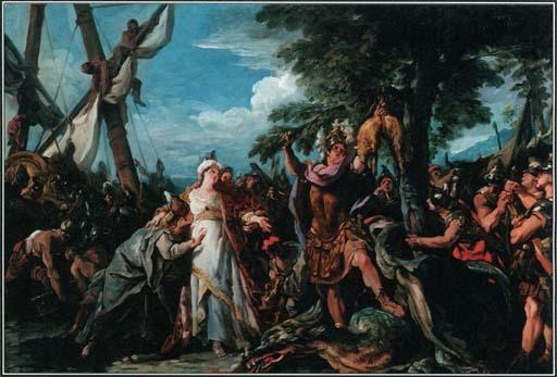 (古希腊神话英雄伊阿宋,抛弃为自己犯下罪孽的妻子美狄亚.图片