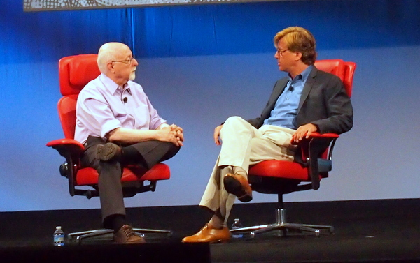 Walt Mossberg and Aaron Sorkin on the D10 Stage