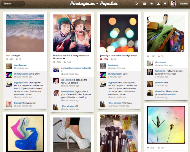 Instagram + Pinterest = Pinstagram