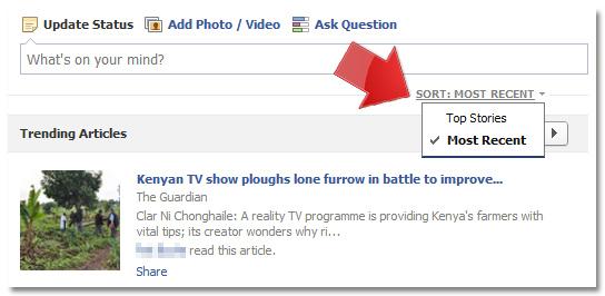 Facebook Most Recent Stories