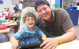 Child with Special Needs with iPad