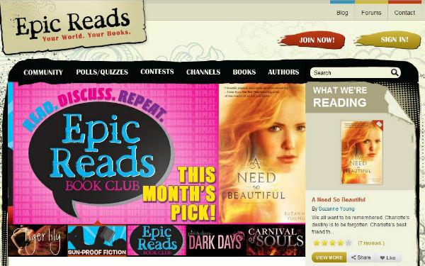 Teens Crush on Books at Epicreads.com