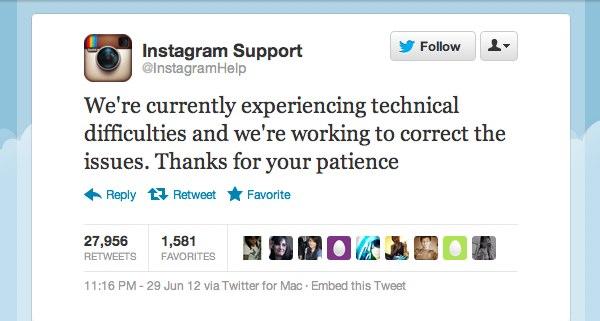 Instagram Masih down Setelah Badai