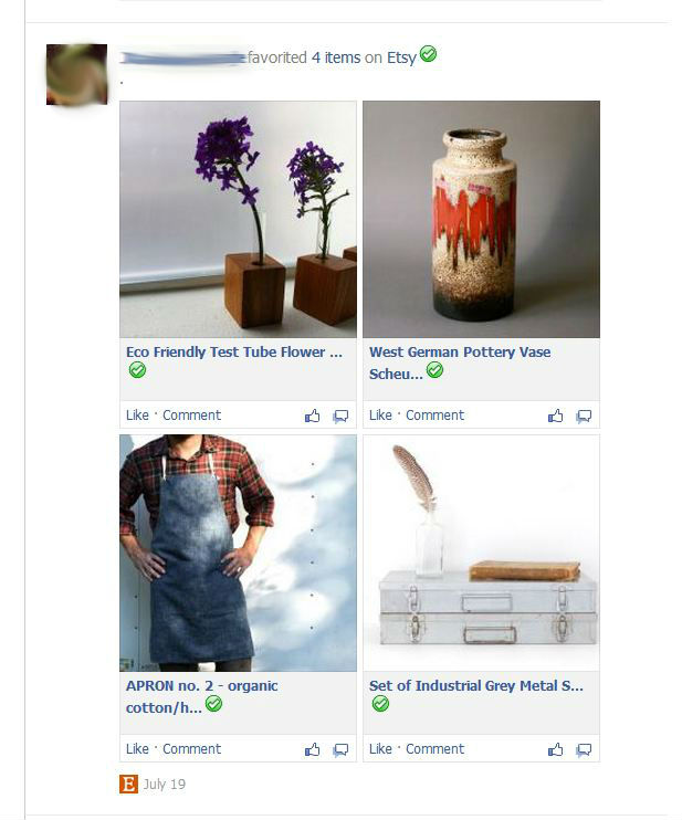 Pinterest-like apps in news feed