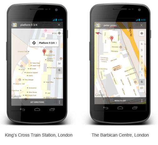 Google Indoor Maps trafia do Wielkiej Brytanii 1