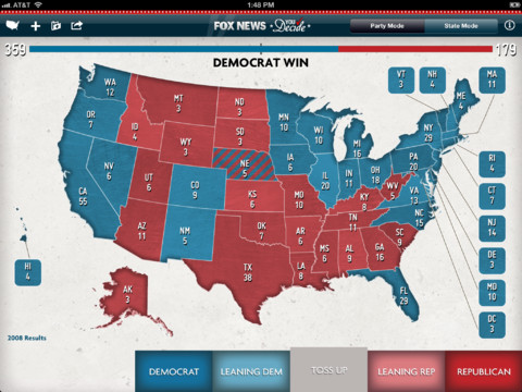 Romney or Obama? Predict the Election With Fox News' iPad