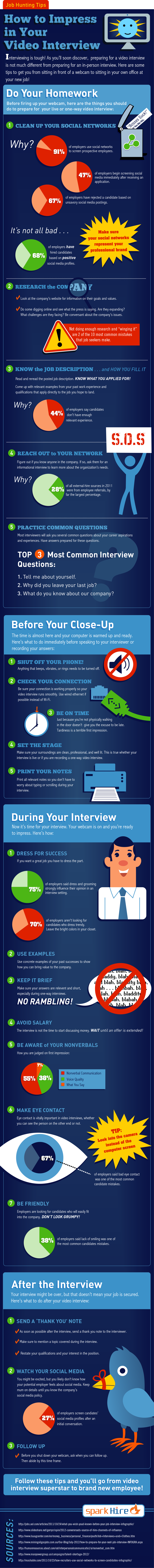 How to Impress Potential Employers in a Video Interview [Infographic] - Neville on WordPress.com