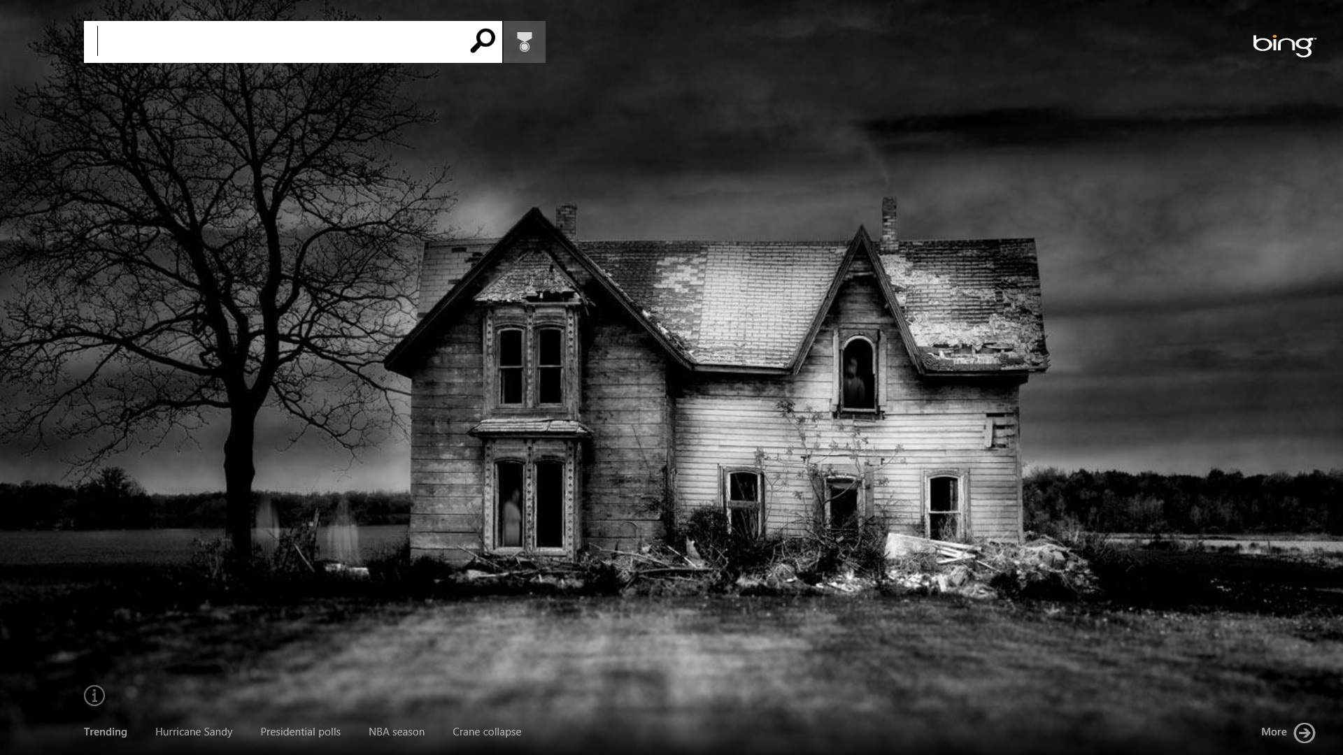 Bing gets super creepy for halloween for Old black and white photos for sale